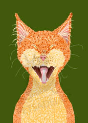 Sebastian, a sleepy orange tabby cat wall art. Item#: CWMO-P202